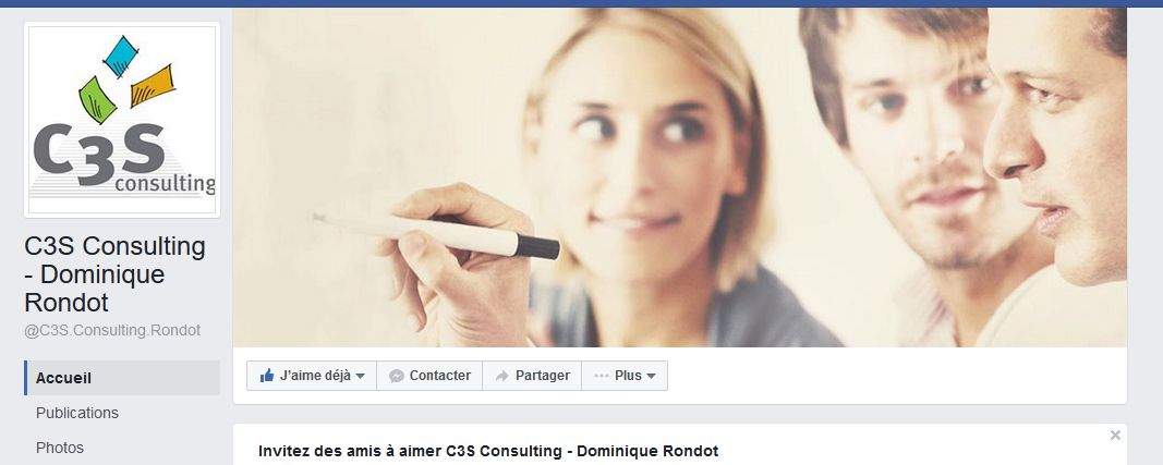 page Facebook C3S Consulting Dominique Rondot
